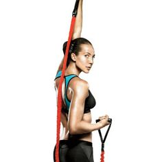"15 Minute Exercise Band Workout | Few workout tools beat the efficiency of the multitasking resistance band, which costs under 20 bucks and takes up less space in your bag than an iPod. ""Plus, it works your muscles at a full range of motion, targeting parts that are often missed by free weights."""