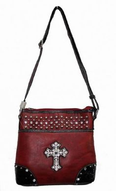 Maroon Cross Handbag by TheChristianBoutique on Etsy