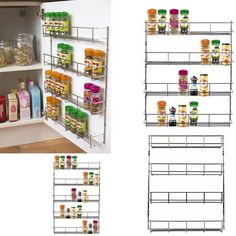 Wall and over-the-door solution is perfect for kitchen and pantry organization. Multipurpose, adjustable storage solution is ideal for use in other areas of the home. Color: as seen in the picture. 6 tiers.