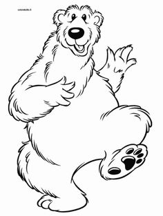 Papa Orso Big Blue HouseColoring Pages
