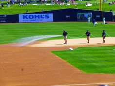 How many guys does it take to water a field?   #springtraining!