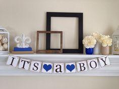 Zijn een jongen Banner Baby douche decoraties door ABannerAffair