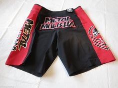 Metal Mulisha Mens fight moto board shorts 32 Revelation blk red 4 way strtch*^ #MetalMulisha #BoardSurf