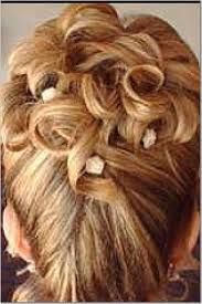 Image result for french twist with curls