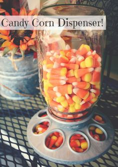In which I use a chicken feeder to dispense candy corn. Please note: this is a NEW chicken feeder. Please do not use a used chicken feeder. Obviously. // @Jenny On The Spot