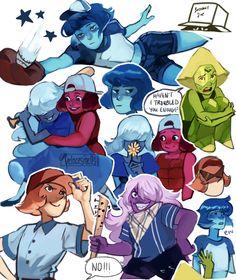 Steven universe,фэндомы,Lapis Lazuli,SU Персонажи,Peridot,Amethyst (SU),Pearl…