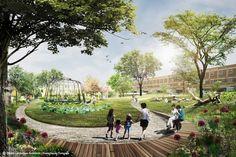 Team DELVA LA, Powerhouse en Skonk wint Parkstad - Rotterdam - Delva Landscape Architects