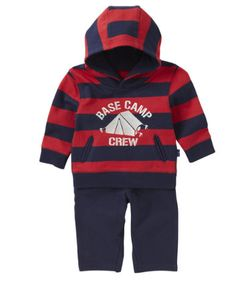 Mothercare Red And Navy Hooded Jog Set