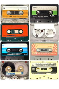 Cassette tapes - used to tape songs from the top 40 countdown on the radio.