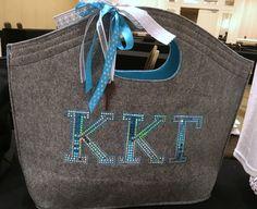 Kappa Kappa Gamma Tote from All Stitched And Glitzed Out. #SororityApparel #GreekLife