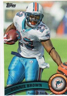 2011 Topps Trade Card #161 MIAMI DOLPHINS: Ronnie Brown