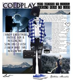 """""""Just because I'm losing, dosen't mean I'm lost~Coldplay"""" by katrine-amalie ❤ liked on Polyvore featuring Converse, ...Lost, GET LOST, Glamorous, Sloane, Wet Seal and Rails"""