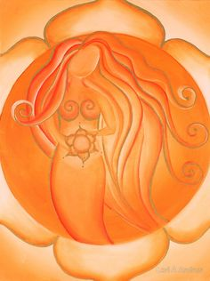 """Most of us have two lives. The life we live, and the unlived life within us."" ~ Steven Pressfield Artist: Lori A Andrus Title: 2nd Chakra - Sacral Chakra <3 lis"