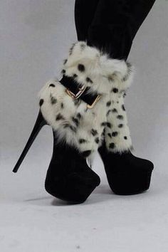 These furry boot-pumps look so hot! Get in the MYX this season at MYXFusions.com!