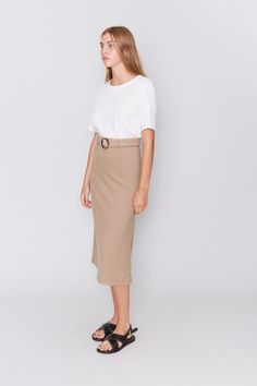 Incu | Soft Belted Skirt