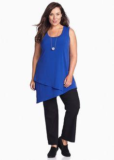 Plus Size Ladies' Tops in Australia - White, Black, Mesh & More - ORE LAYERING TANK