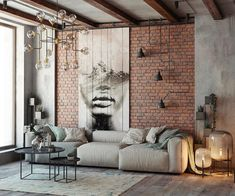 Everyone will love the modern style of the loft in the design of the living room, if you properly beat all its benefits. We have collected over 100 photos of the loft living room design to get your attention. Loft Interior Design, Industrial Interior Design, Loft Design, House Design, Eclectic Design, Design Design, Garden Design, Loft Interiors, Rustic Interiors