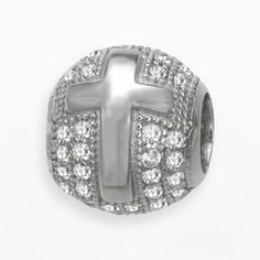 Individuality Beads Sterling Silver Cubic Zirconia Cross Bead. I got this for Christmas.