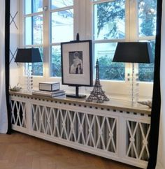 home accessories design Use these radiator cover ideas to transform your room. See how to use a radiator cover for storage, reading nooks under windows, corner cabinets + more. Home Radiators, Diy Home Decor, Room Decor, Apartment Interior, Home Projects, Home Accessories, Furniture Design, Sweet Home, House Design