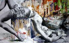 cecile desserle Street Wall Art, Urban Street Art, Urban Art, Galerie Saatchi En Ligne, Banksy, Graffiti Art, Park Art, Cecile, Photo Colour