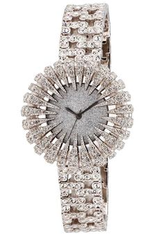Price:$108.00 #watches Burgi BUR054SS, This exceptional, Burgi women's, dazzling, quartz watch is perfect for any occasion. The bezel features sections with genuine crystals. The glittery dial adds to the glitz of this dressy watch.