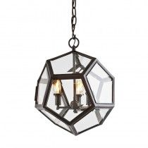 Buy Eichholtz Yorkshire Lantern Medium Gunmetal online with Houseology Price Promise. Full Eichholtz collection with UK & International shipping. Luxury Interior Design, Lampshades, Luxury Living, Hygge, Pendant Lamp, Clear Glass, Lanterns, Bulb, Ceiling Lights