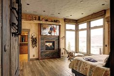 A collection of interior designs featuring 19 Magical Rustic Bedroom Interior Designs That Will Relax You. Small Modern Bedroom, Contemporary Bedroom, Rustic Bedroom Furniture, Home Decor Bedroom, Bedroom Ideas, Small Apartment Bedrooms, Bedroom Size, Master Bedroom, Master Suite