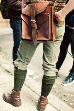 Leather Tweed Wool FairIsle
