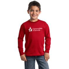 Proudly promote CIS with this youth long sleeve T-Shirt from the Communities In Schools online shop. Youth sizes only $13. Want one for yourself? Also available in adult Men's sizes!