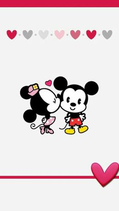 Mickey e Minnie M Wallpaper, Cute Wallpaper Backgrounds, Mobile Wallpaper, Cute Wallpapers, Wallpaper Do Mickey Mouse, Disney Phone Wallpaper, Mickey And Minnie Love, Mickey Minnie Mouse, Miki Mouse