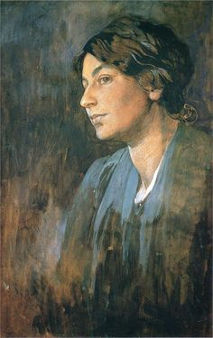 """""""Portrait of Marushka, Artist s Wife"""" by Artist: Alphonse Mucha, Completion Date: 1905,Style: Romanticism."""