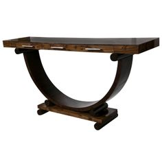 art deco style rosewood console table from a unique collection of antique and modern console art deco style rosewood