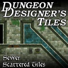 Sewer themed RPG map tiles for virtual tabletops