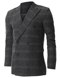 FLATSEVEN Mens Wool Check Plaid Peak Lapel Double Breasted Blazer Jacket (BJ474) Charcoal, Boys M FLATSEVEN http://www.amazon.com/dp/B00NMAYQVY/ref=cm_sw_r_pi_dp_Lw6Xub0BXD7VR