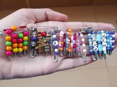Bringing Friendship Pins Back {Giveaway-Expired} Crafts For Girls, Crafts To Do, Bead Crafts, Diy For Kids, Cool Kids, Diy Crafts, Friendship Crafts, Friendship Bracelets, Safety Pin Jewelry