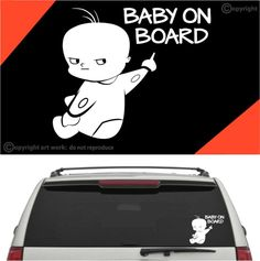 Baby On Board Decal Car Sticker #A1