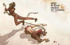 Girls in Their Undies vs. Zombies by massgrfx (my brudduh!) on DeviantArt