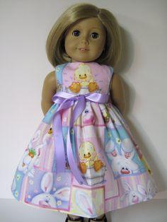 Easter Sleeveless Dress for Your American Girl by Dressesfordolls, $9.99
