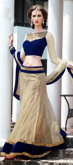 Beige and Brown color family Mehendi & Sangeet Lehenga... #indian #wedding #dresses