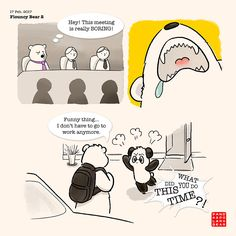 Should Panda just go back to read Paddington Bear. Cute Panda Cartoon, Bear Cartoon, Baby Panda Bears, Polar Bear, List Of Jobs, Job List, Singing Jobs, Happy Birthday Drawings, Panda Lindo