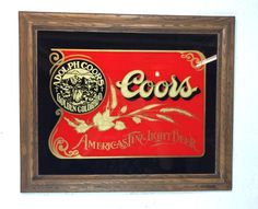 Vintage Coors Beer Waterfall Motion Bar Light Sign 3d