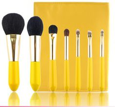 Sofeel 7pcs pointed handle high quality brush set. www.jieliindustrial.cn
