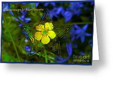 Buttercups And Starflowers Greeting Card by Joan-Violet Stretch