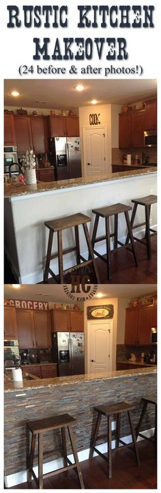 Rustic Kitchen Makeover - View Before and After Photos