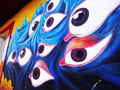 Mural de ojos de pescado