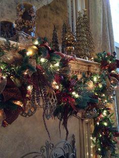 Close up of Christmas garland