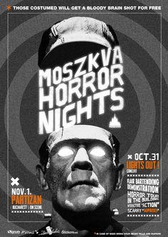 Horror Night @ Moszkva Café #Oradea  Poster design by Domokos Zsolt