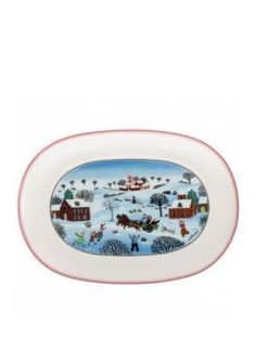 Villeroy Boch Naif Christmas Pickle DishSmall Tray  sc 1 st  Pinterest & The fabric is 52% cotton and 48% polyester and measures 60