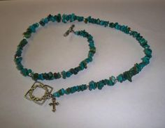 Necklace Jewelry Genuine Turquoise Chip Beads by NalisNotions, $35.00