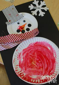snowman art for toddlers